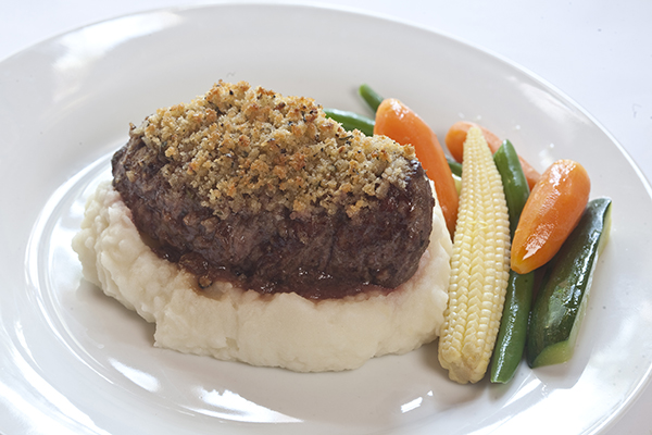 Grilled Ostrich Steak With Lemon And Sage Crust