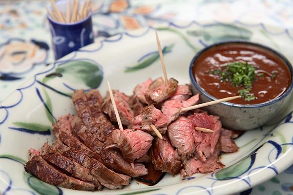 Ostrich Steak Starter With Monkey Gland Sauce